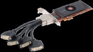 Ati 100-505532 oem firepro 2450 multi-view 512mb pci-express video.